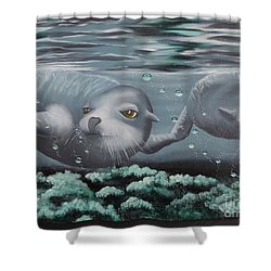 Shower Curtain featuring the painting Serenity by Dianna Lewis