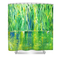 Serenity In Green Shower Curtain