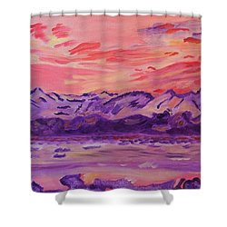 Shower Curtain featuring the painting Serenity by Meryl Goudey