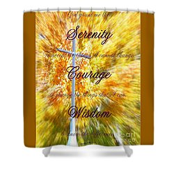 Serenity Prayer II By Bobbee Rickard Shower Curtain