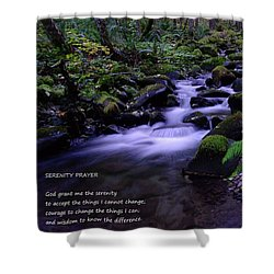 Serenity Prayer  Shower Curtain by Jeff Swan