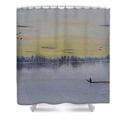 Serenity Shower Curtain by Sayali Mahajan