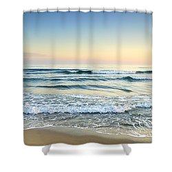 Serenity Sea Vintage Shower Curtain by Guido Montanes Castillo