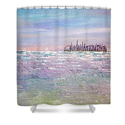 Serenity Sky Shower Curtain by George Riney
