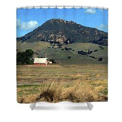 Serenity Under Bishops Peak Shower Curtain by Kurt Van Wagner