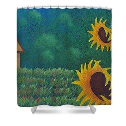 Sergi's Sunflowers Shower Curtain