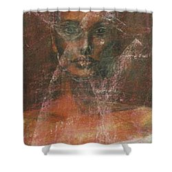 Shower Curtain featuring the painting Serious Bride Mirage  by Jarmo Korhonen aka Jarko