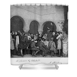 Sermon By Abelard Shower Curtain by Granger