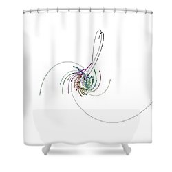 Serpentins Quaternioniques Shower Curtain