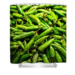 Serrano Peppers Shower Curtain