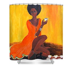 Serving Coffee Shower Curtain