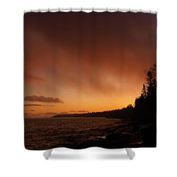 Set Fire To The Rain Shower Curtain by James Peterson