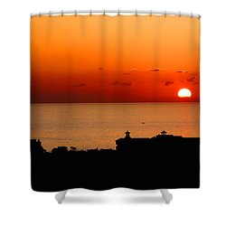Set Into The Sea Shower Curtain