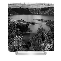 Sete Cidades Lake Shower Curtain