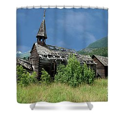 Shower Curtain featuring the photograph Seton Portage Church by Rod Wiens