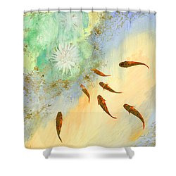 Sette Pesciolini Verdi Shower Curtain