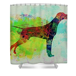Setter Pointer Watercolor Shower Curtain by Naxart Studio