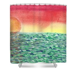 Setting Sea Shower Curtain