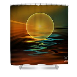 Setting Sun Shower Curtain by Klara Acel