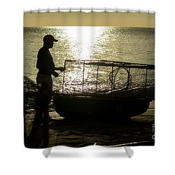 Setting Traps Shower Curtain by Rene Triay Photography