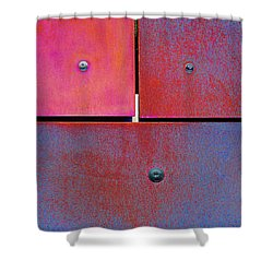 Seven Eight Nine - Colorful Rust - Magenta Blue Shower Curtain