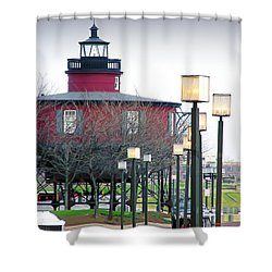 Shower Curtain featuring the photograph Seven Foot Knoll Lighthouse by Brian Wallace
