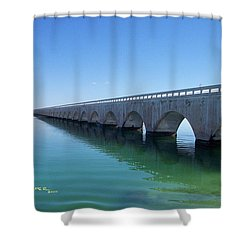 Seven Miles To Go Before I Sleep Shower Curtain