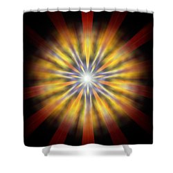 Shower Curtain featuring the drawing Seven Sistars Of Light by Derek Gedney