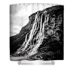 Seven Sisters Waterfall Shower Curtain