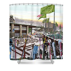 Seven Springs Mountain Resort Shower Curtain by Albert Puskaric