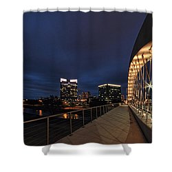 Seventh Avenue Bridge Fort Worth Shower Curtain
