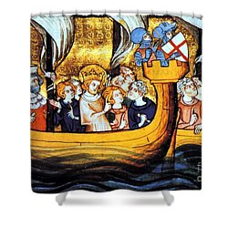 Seventh Crusade 13th Century Shower Curtain by Photo Researchers