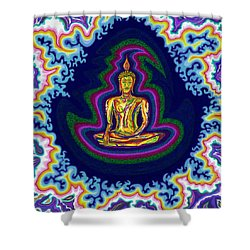 Seventh Heaven Buddha Shower Curtain
