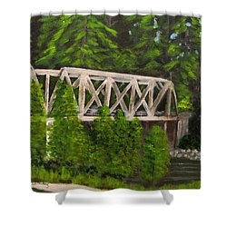 Sewalls Falls Bridge Shower Curtain