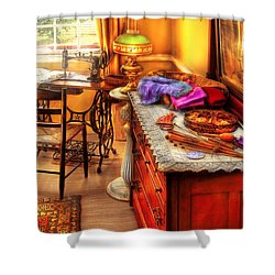 Sewing Machine  - The Sewing Room Shower Curtain by Mike Savad