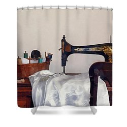 Sewing Room Shower Curtain by Susan Savad