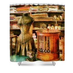 Sewing - Supplies For The Seamstress Shower Curtain by Mike Savad