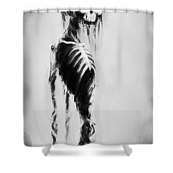Sexy Bones Shower Curtain by Tbone Oliver