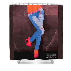 Sexy Jeans Shower Curtain by Elizabeth Coats