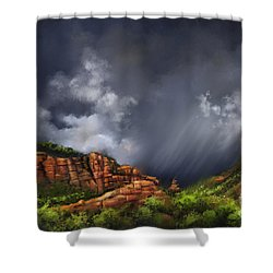 Thunderstorm In Sedona Shower Curtain