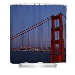 Sf Through The Bridge Shower Curtain