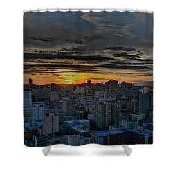 Sfo Sunset Shower Curtain