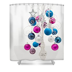 Shabby Chic Christmas Shower Curtain by Anne Gilbert