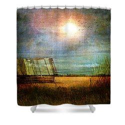 Shack On The Prairie Corner  Shower Curtain