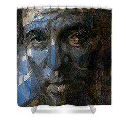 Shackled And Drawn Shower Curtain by Paul Lovering