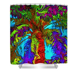 Shade Trees On Venus Shower Curtain