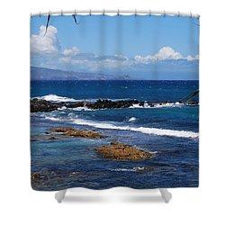 Shades Of Blue Hawaii Shower Curtain