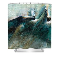 Shades Of Blue Shower Curtain by Frances Marino