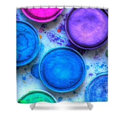 Shades Of Blue Watercolor Shower Curtain by Heidi Smith