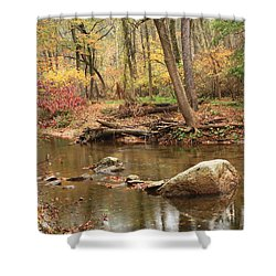 Shower Curtain featuring the photograph Shades Of Fall In Ridley Park by Patrice Zinck